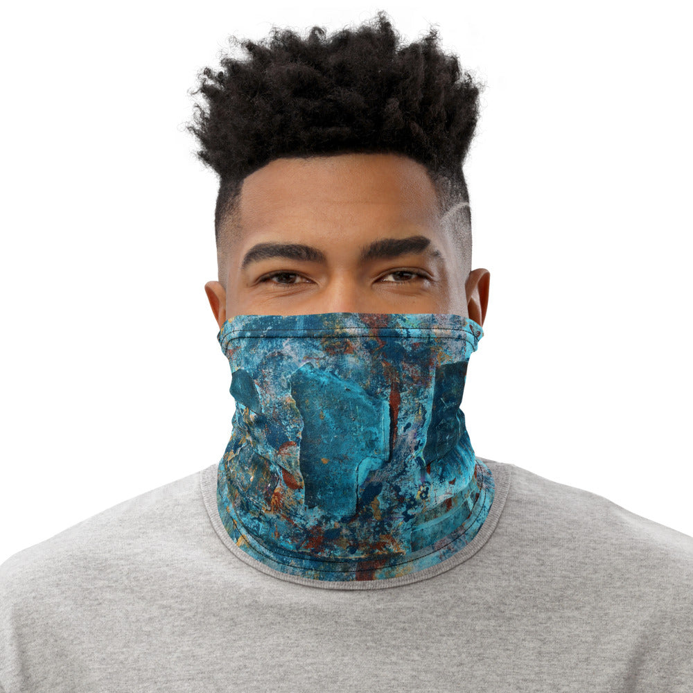 """Emerald Coast of a Fractional Future"" Neck Gaiter Face Mask"