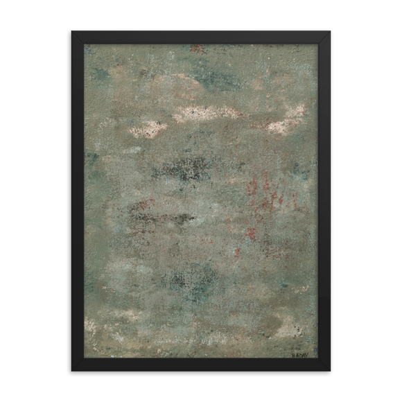 """Concrete Abstract #4"" Framed Poster"