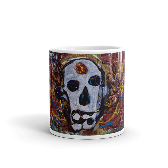 """Abstract Calavera"" Mug"