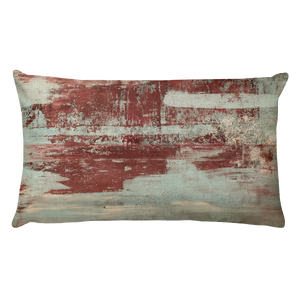 """Red & Blue Concrete #1"" Pillow"