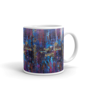"""Disjointed Brushstrokes Rearranged"" Mug"