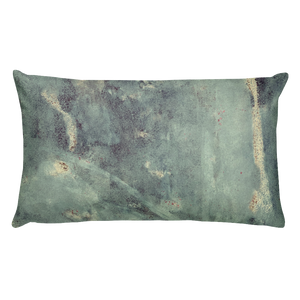"""Blue Concrete Abstract #1"" Pillow"