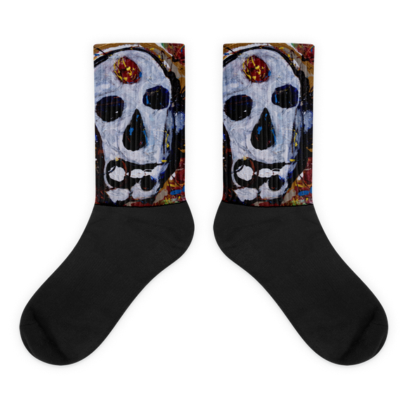"""Abstract Calavera"" Socks"