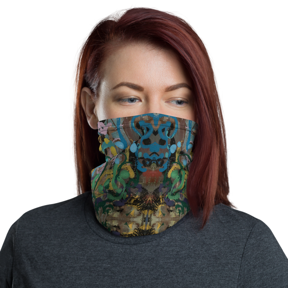 """Ode to a Perky Reef"" Neck Gaiter Face Mask"