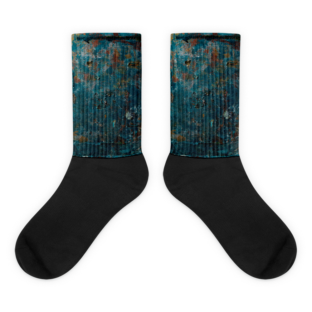 """Fragment of a Rusted Interior Magnified"" Socks"
