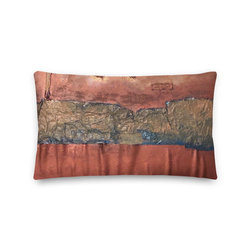 """Greed Decomposed on a Martian Desert"" Pillow"