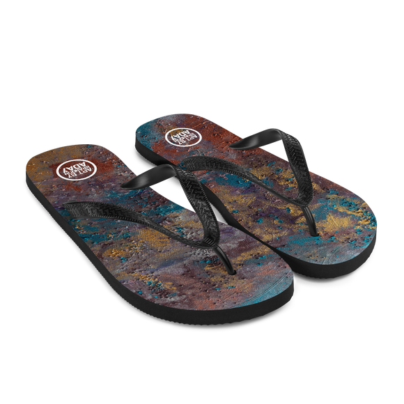 """Great Reef Burning"" Flip-Flops"