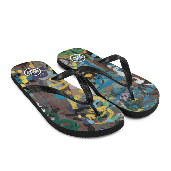 """Ode to a Perky Reef"" Flip-Flops"