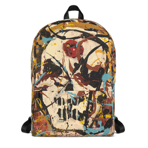 """Silhouette of a Calm Cannibal Just Beneath"" Backpack"