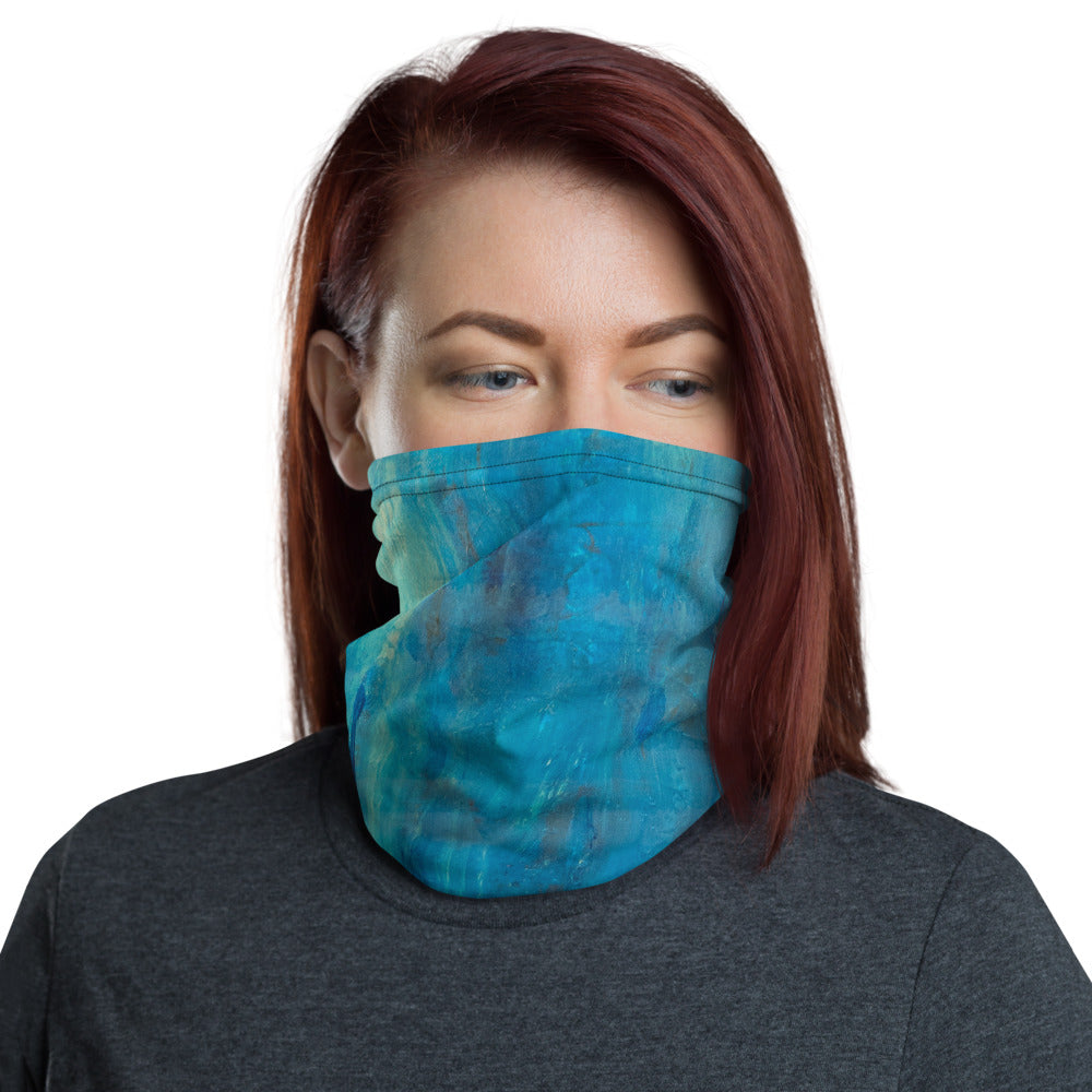 """Borealis Over the Sea"" Neck Gaiter Face Mask"