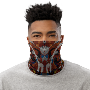 """Juxtaposed Action Recalibrated"" Neck Gaiter Face Mask"