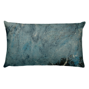 """Blue Concrete Abstract #2"" Pillow"