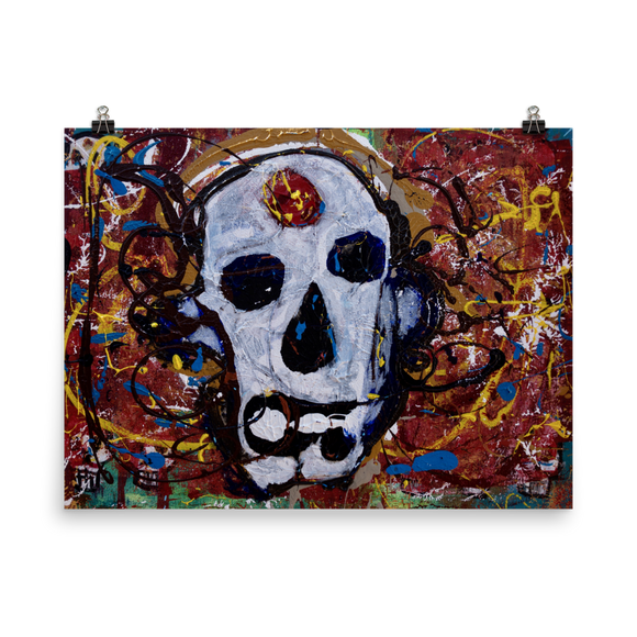 """Abstract Calavera"" Poster"
