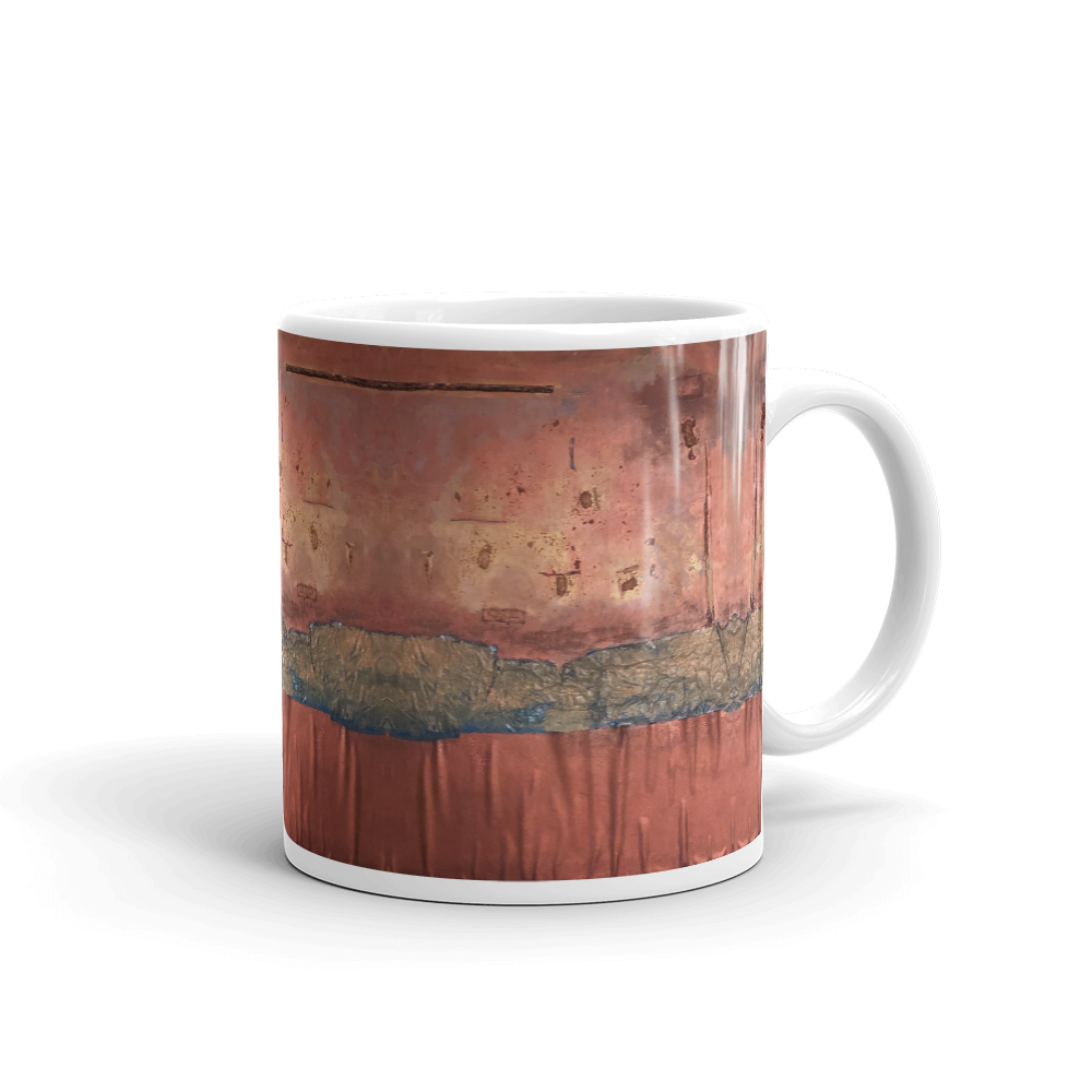 """Greed Decomposed on a Martian Desert"" Mug"