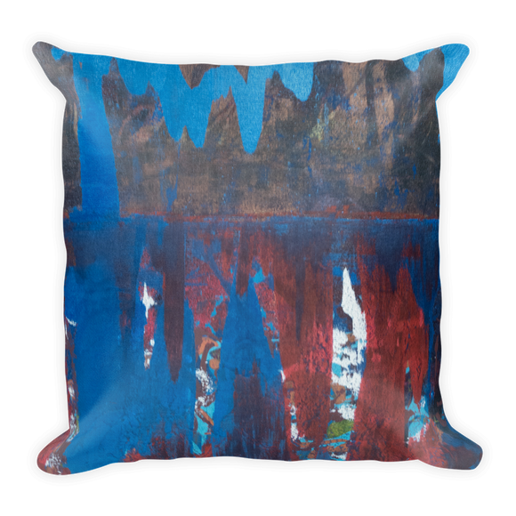 """Blue Maelstrom"" Pillow"