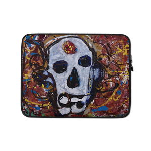"""Abstract Calavera"" Laptop Sleeve"