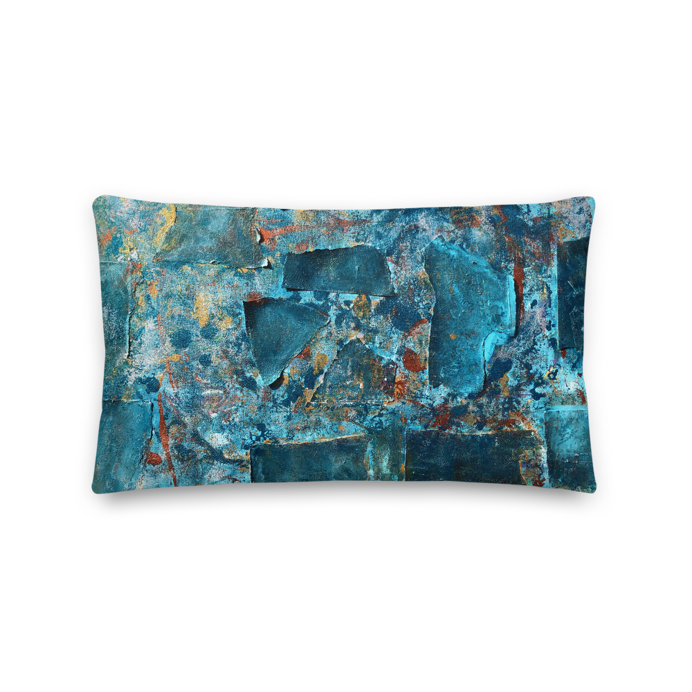 """Emerald Coast of a Fractional Future"" Pillow"