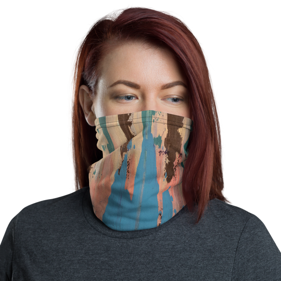 """Rainbow Eucalyptus"" Neck Gaiter Face Mask"