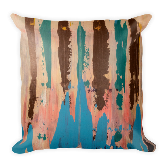 """Rainbow Eucalyptus"" Pillow"