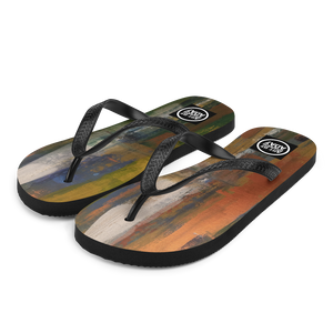 """Reflections on the Canal at Twilight"" Flip-Flops"