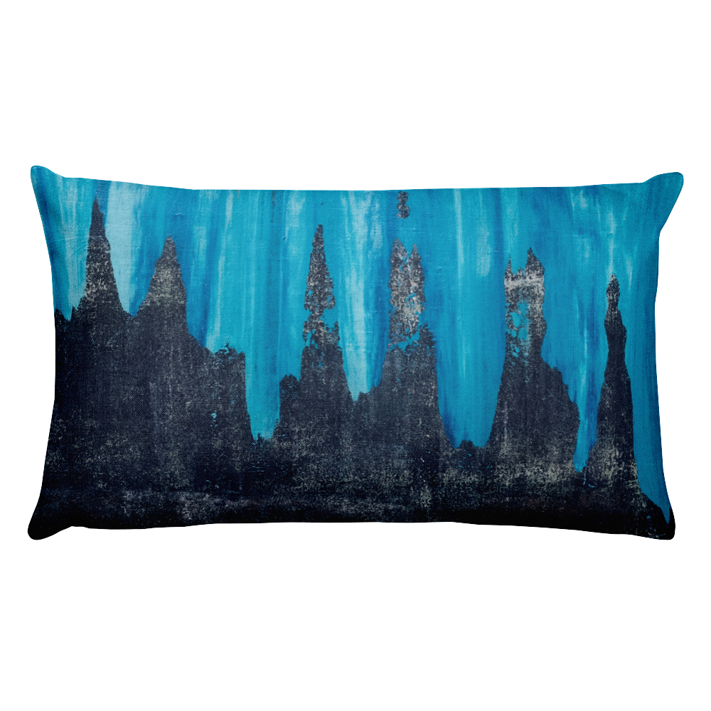 """Black Ice"" Pillow"
