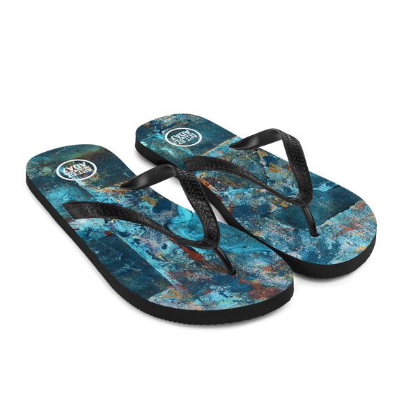 """Emerald Coast of a Fractional Future"" Flip-Flops"