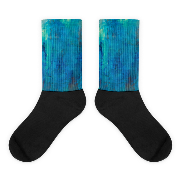"""Borealis Over the Sea"" Socks"