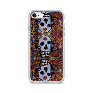 """Abstract Calavera"" Liquid Glitter Phone Case"