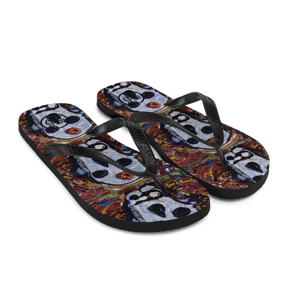 """Abstract Calavera"" Flip-Flops"
