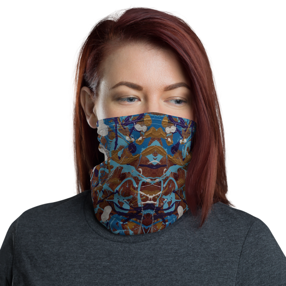 """Enthusiastic Investigation of Confusion"" Neck Gaiter Face Mask"