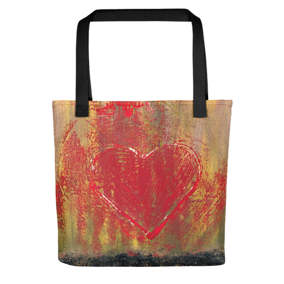 """Resonating Heart"" Tote Bag"