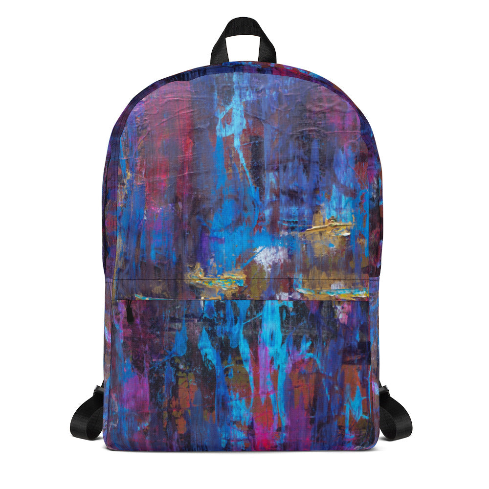 """Disjointed Brushstrokes Rearranged"" Backpack"