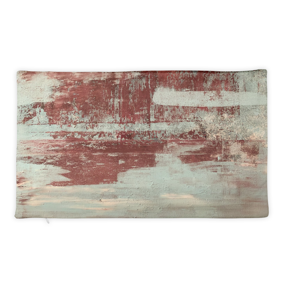 """Red & Blue Concrete #1"" Pillow Case"