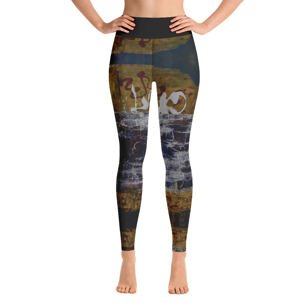 """Inverse Still Life of Unfolding Perception"" Yoga Leggings"