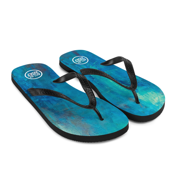 """Borealis Over the Sea"" Flip-Flops"