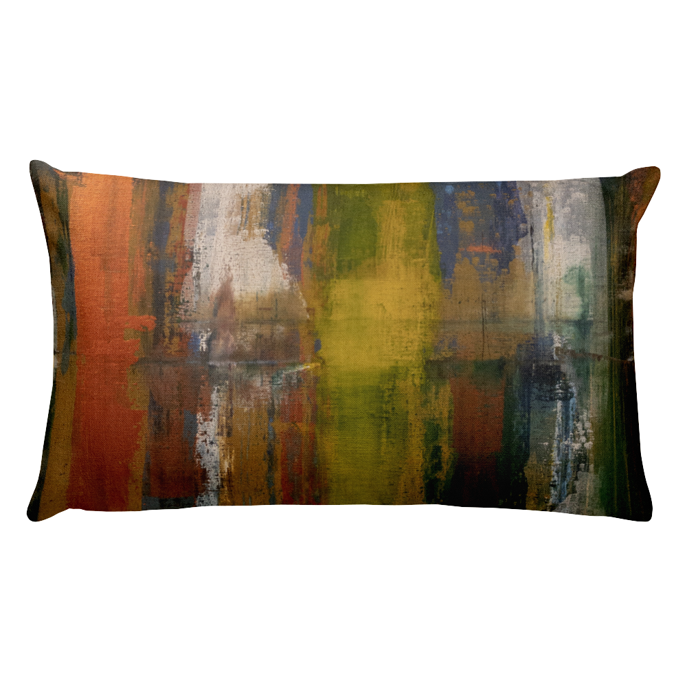"""Reflections on the Canal at Twilight"" Pillow"