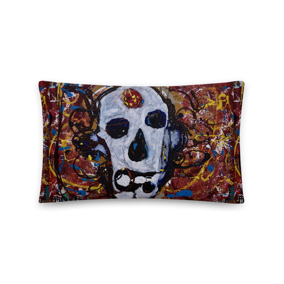 """Abstract Calavera"" Pillow"