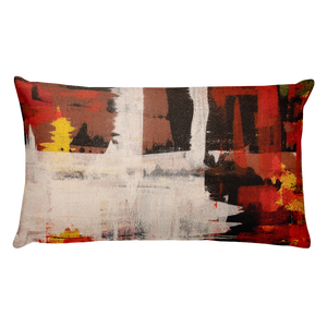 """Harlequin with a Glass Flattened by Gravity"" Pillow"