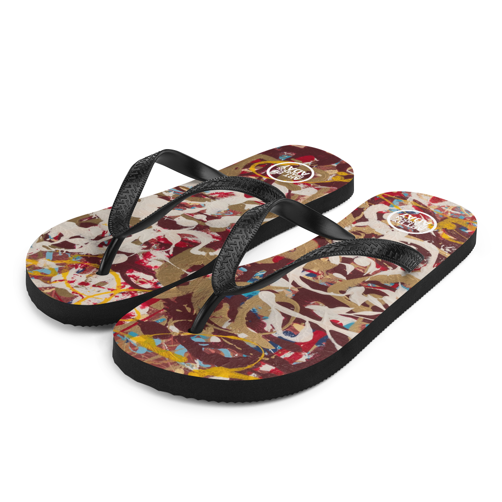 """Yellow Baby Buggy Bumpers"" Flip-Flops"