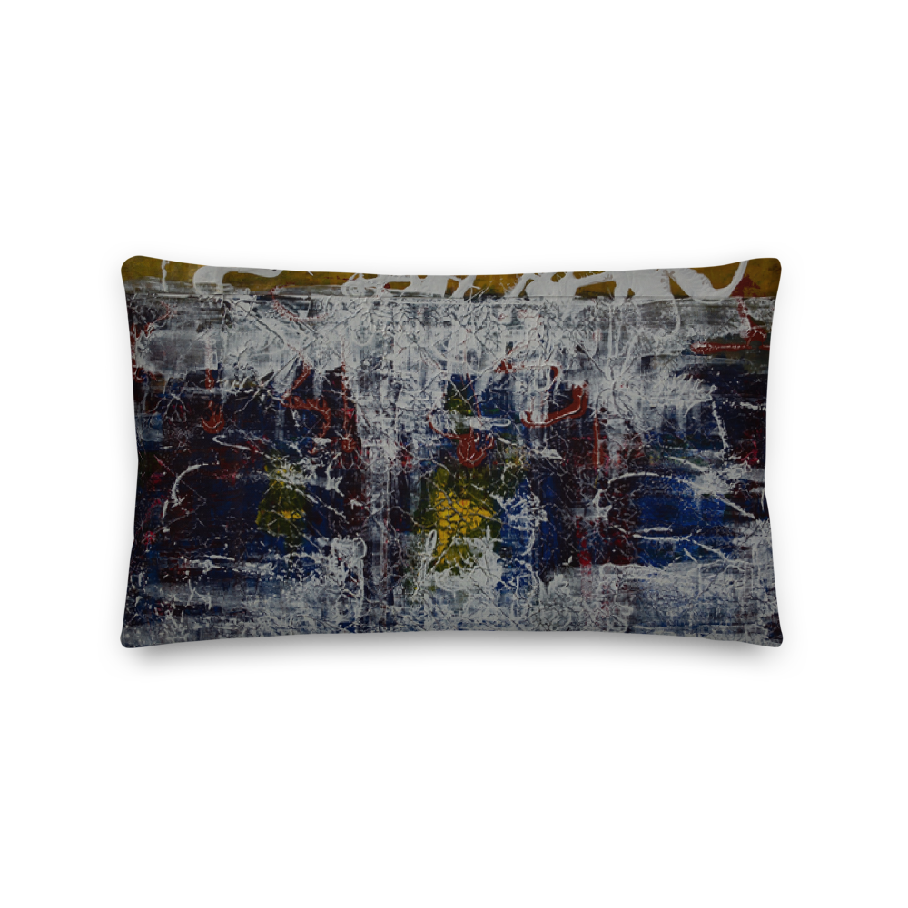 """Inverse Still Life of Unfolding Perception"" Pillow"