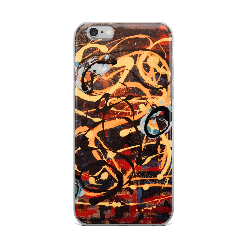 """The Metamorphosis of Curvaceous Motion"" iPhone Case"