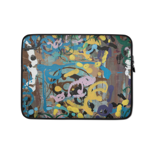 """Ode to a Perky Reef"" Laptop Sleeve"