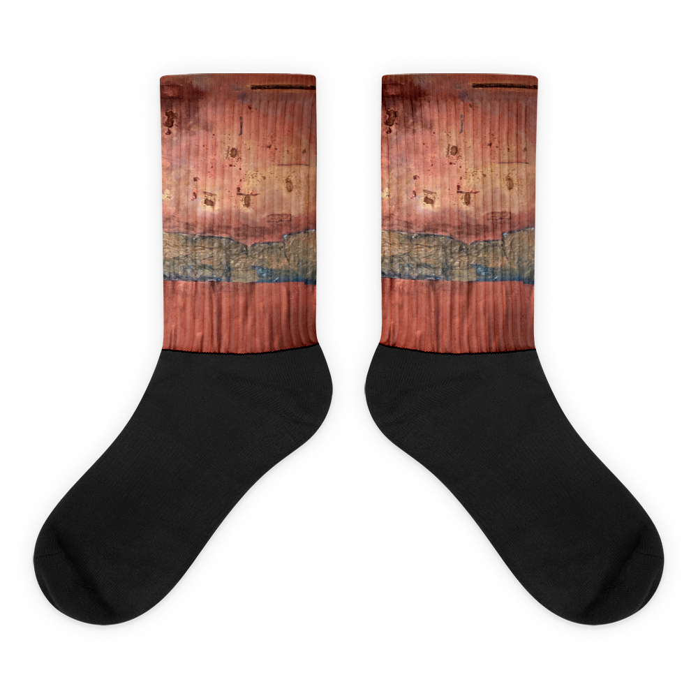"""Greed Decomposed on a Martian Desert"" Socks"