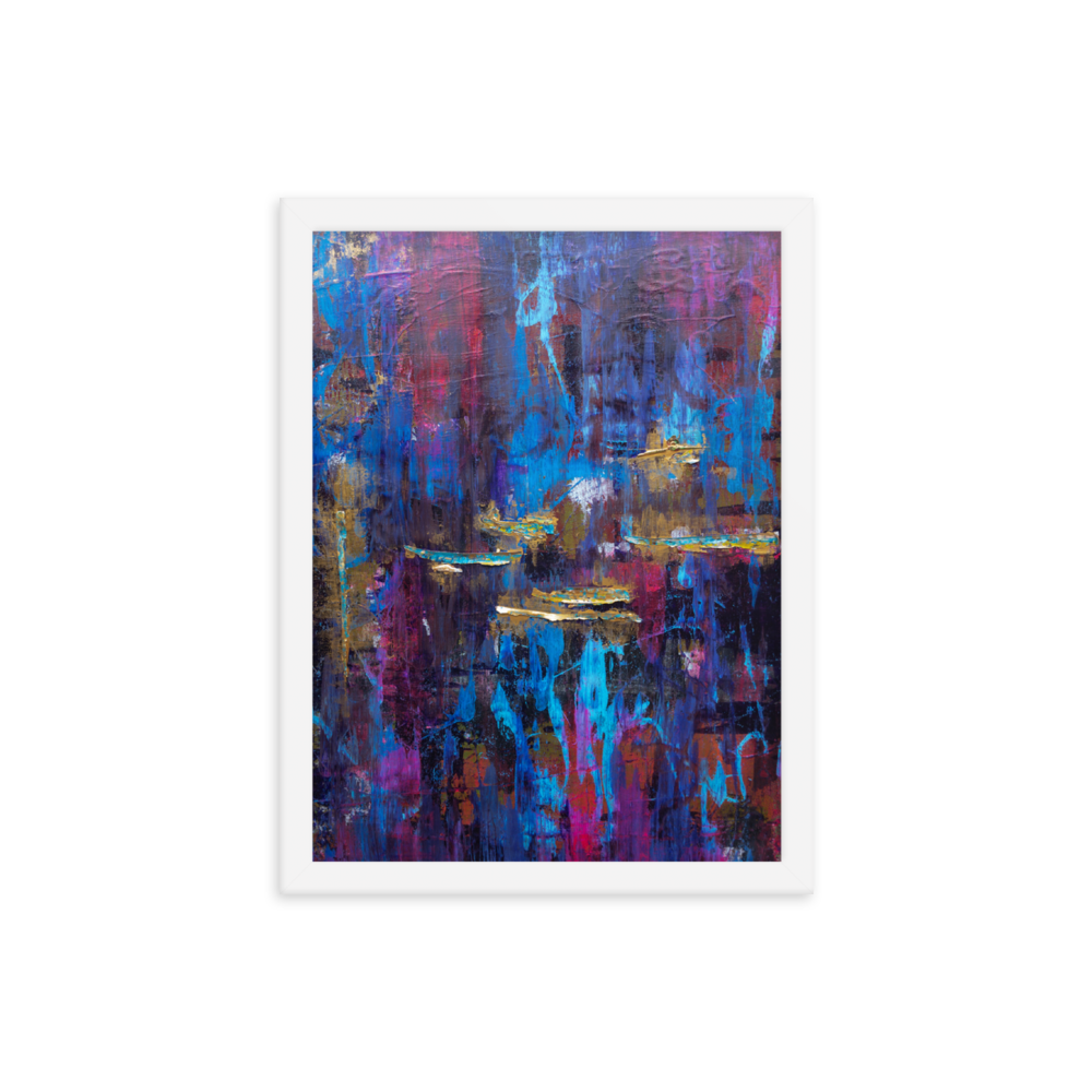"""Disjointed Brushstrokes Rearranged"" Framed Poster"