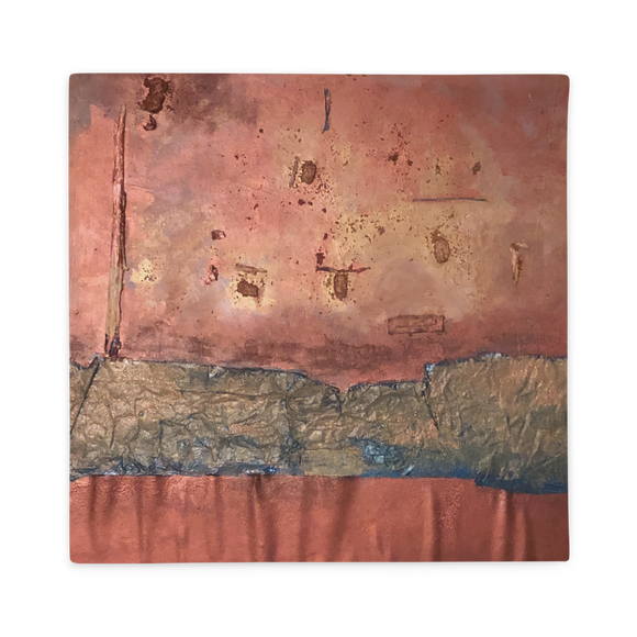 """Greed Decomposed on a Martian Desert"" Pillow Case"