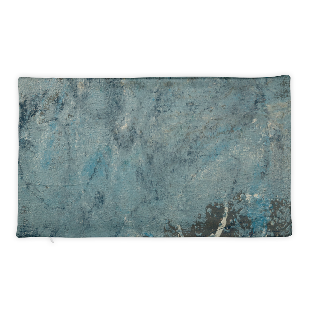 """Blue Concrete Abstract #2"" Pillow Case"
