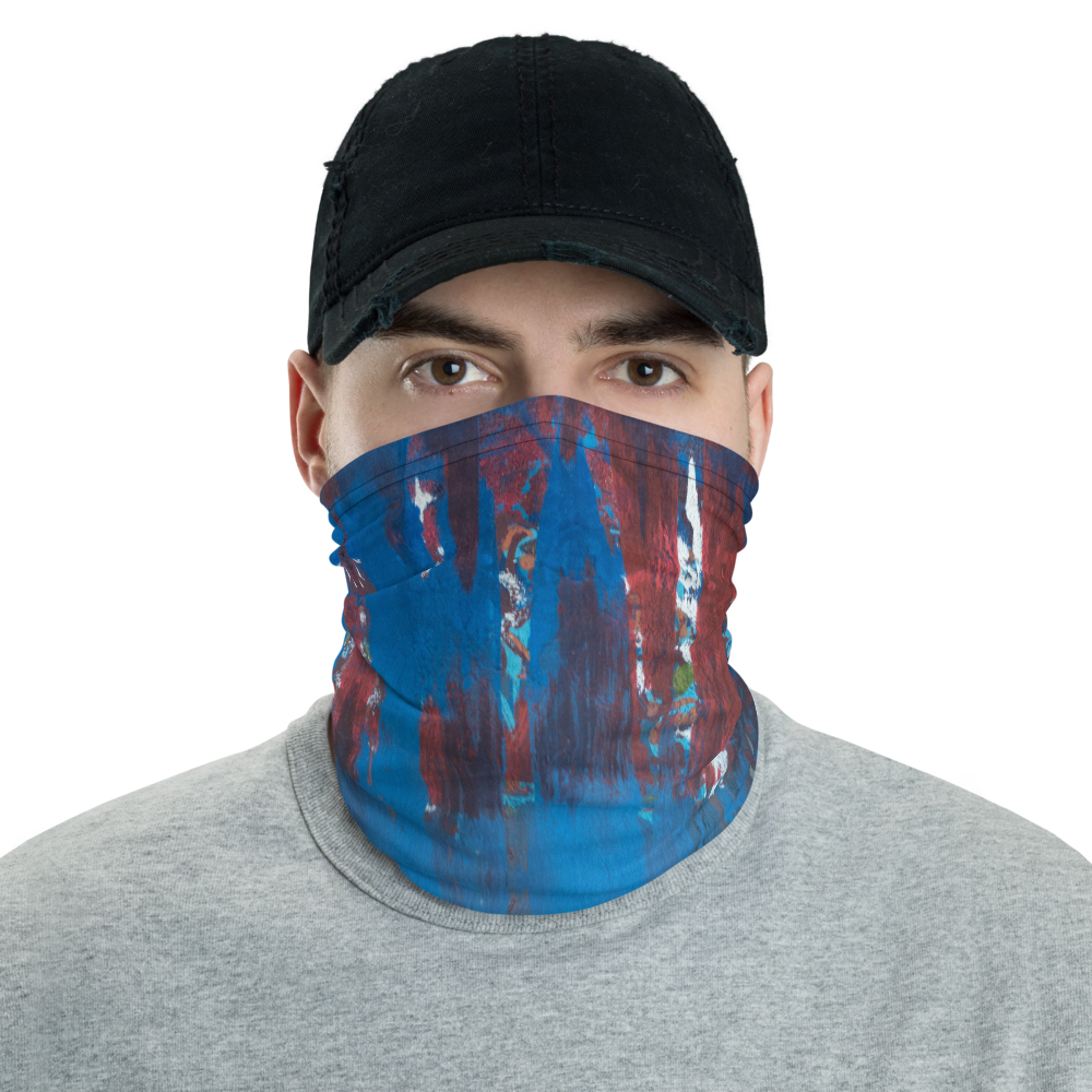 """Blue Maelstrom"" Neck Gaiter Face Mask"