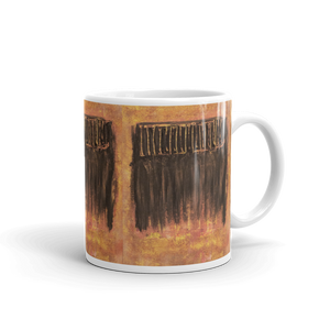 """Charred Metal Window"" Mug"