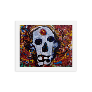 """Abstract Calavera"" Framed Poster"