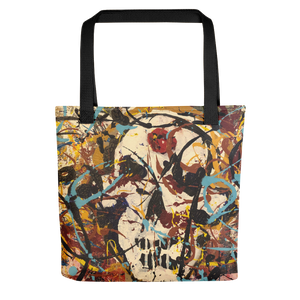 """Silhouette of a Calm Cannibal Just Beneath"" Tote Bag"
